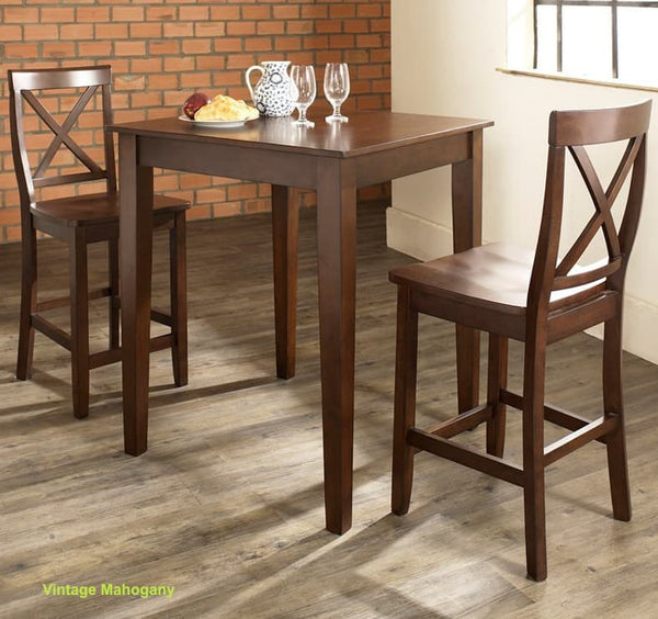 3 Piece Crosley Counter Height Dining Table Set - Christian's Table
