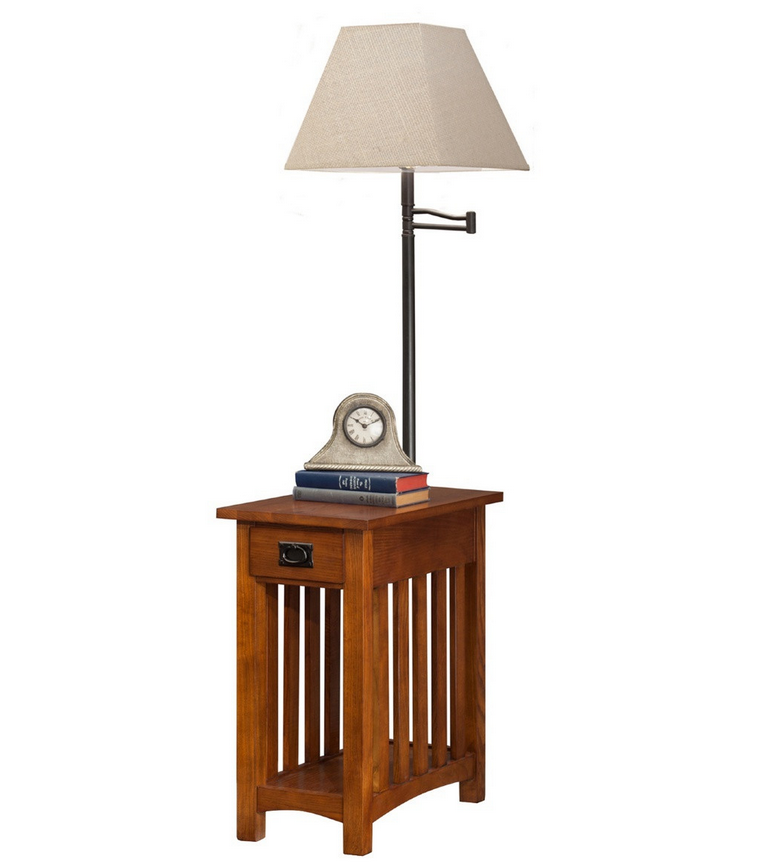 Mission Chairside Lamp End Table