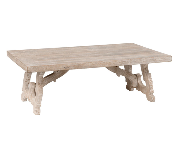 Rustic Hand Crafted Wood Coffee Table - Christian's Table