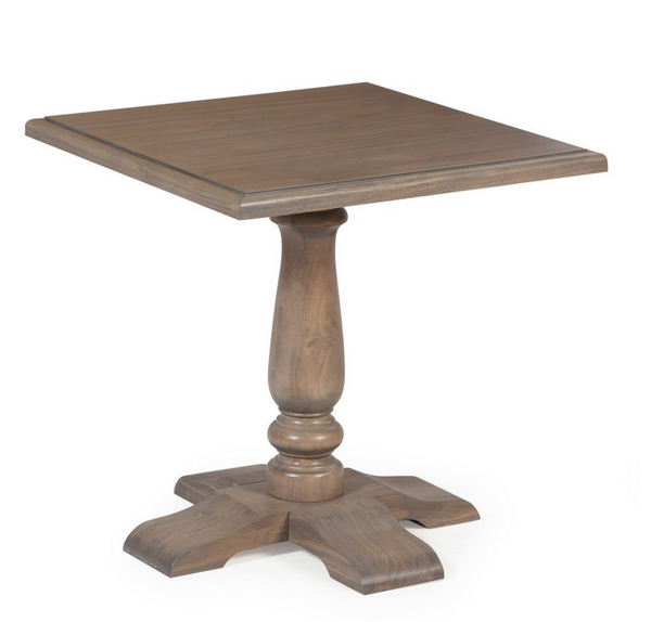 Pedestal End Table - Driftwood Gray - Christian's Table