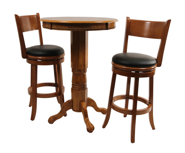 Fruitwood 3 Piece Pub Table Set - Christian's Table