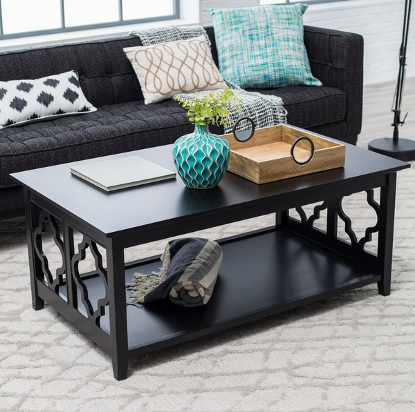 Quatrefoil Sided Coffee Table - Christian's Table