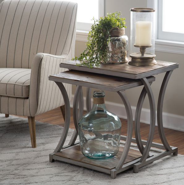 Reclaimed Wood Nesting End Tables - Driftwood - Christian's Table