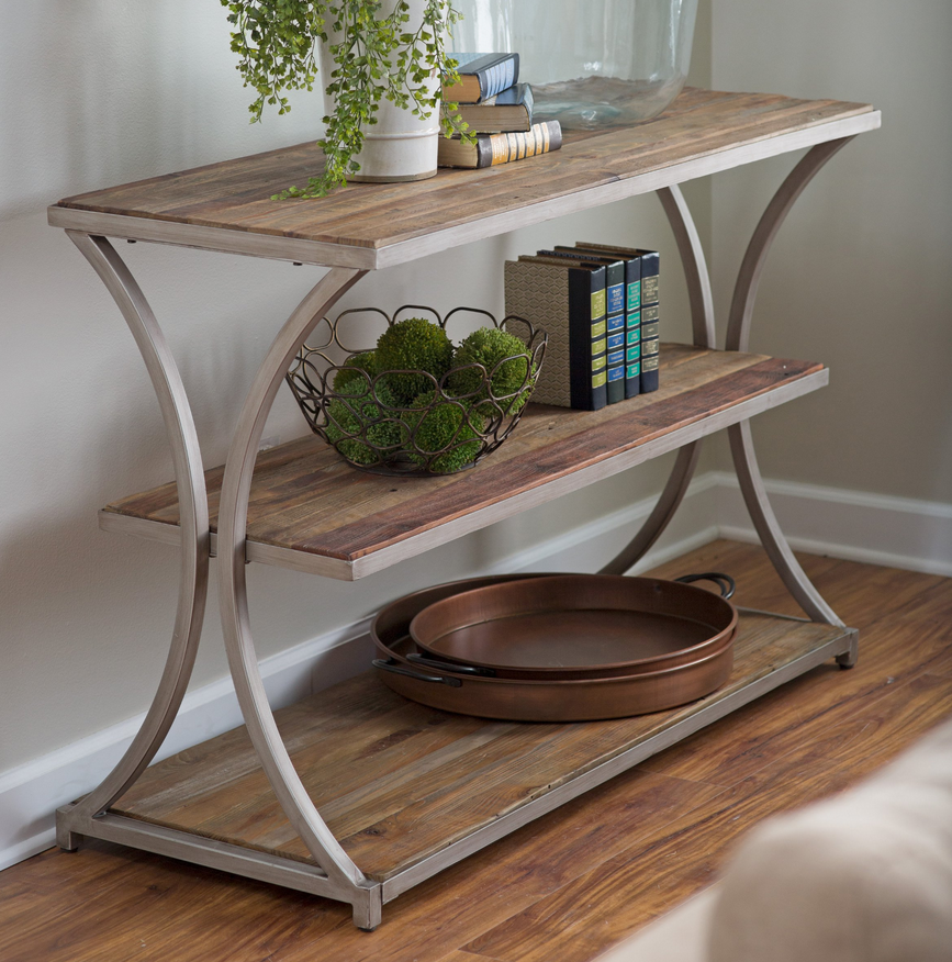 Reclaimed Wood Console Table   Driftwood