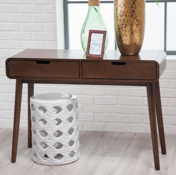 Modern Console Table - Walnut Finish - Christian's Table