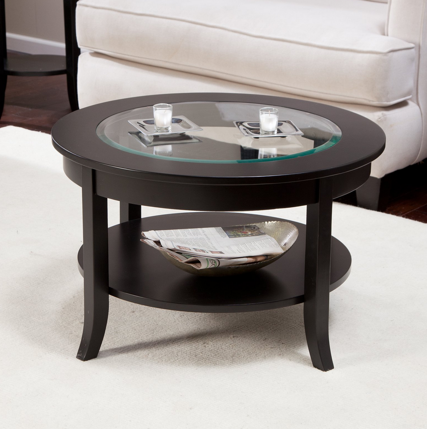 Round Coffee Table - Glass Top - Christian's Table