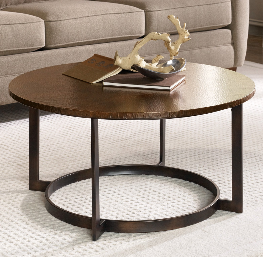 round coffee table - hammered copper – christian's table