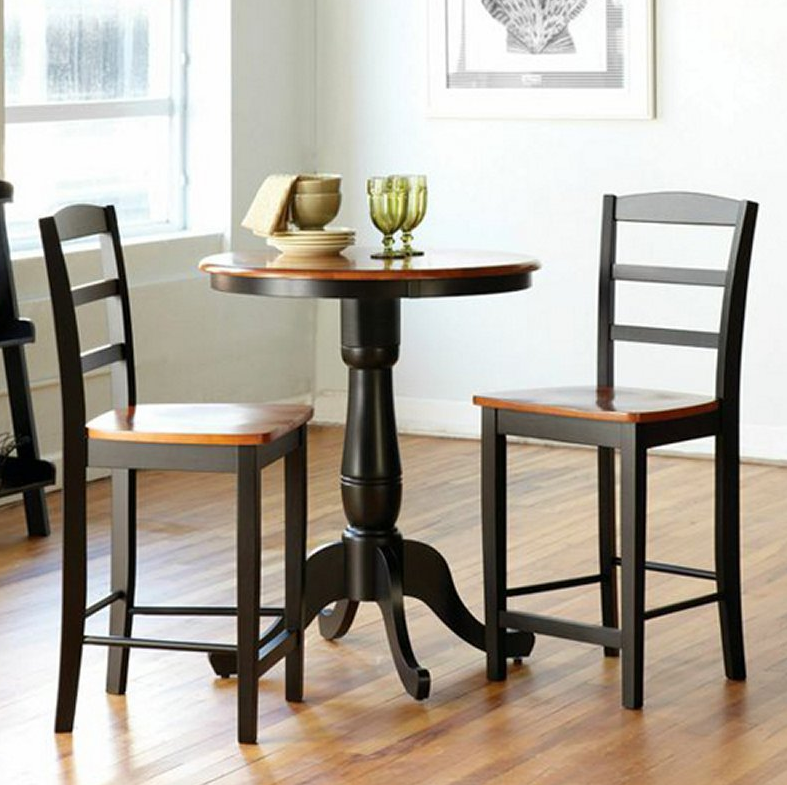 Round Counter Height Dining Table Set   3 Piece