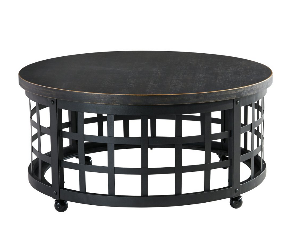 Round marimon metal coffee table christians table round metal coffee table round medieval metal coffee table geotapseo Images
