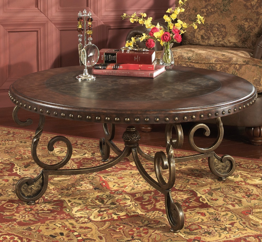 Brown Round Coffee Table - Christian's Table