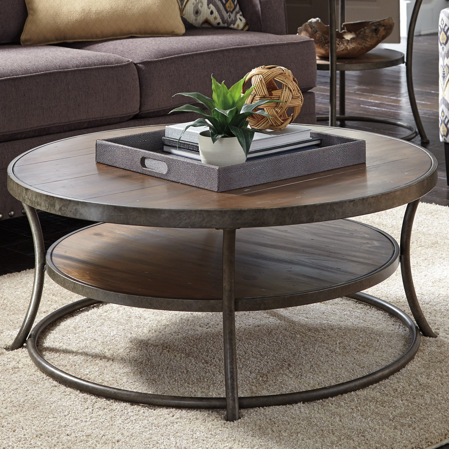 Rustic Round Coffee Table - Christian's Table