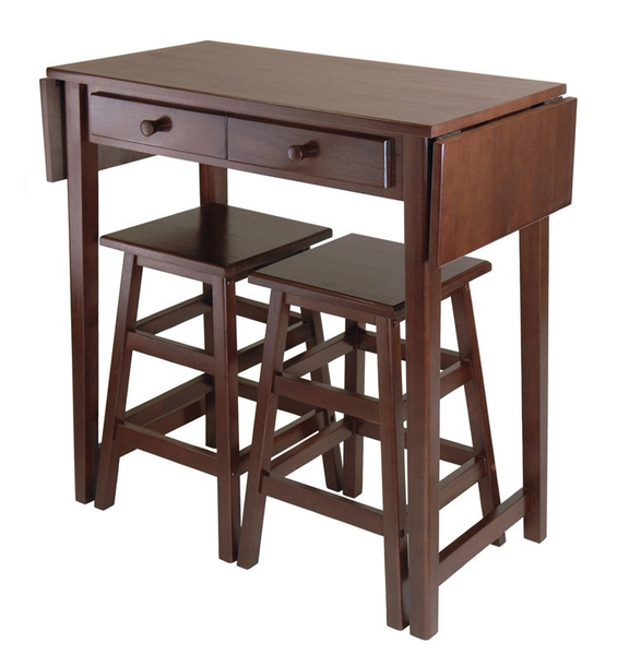 Small Kitchen Table Set Counter Height 3 Piece - Christian's Table