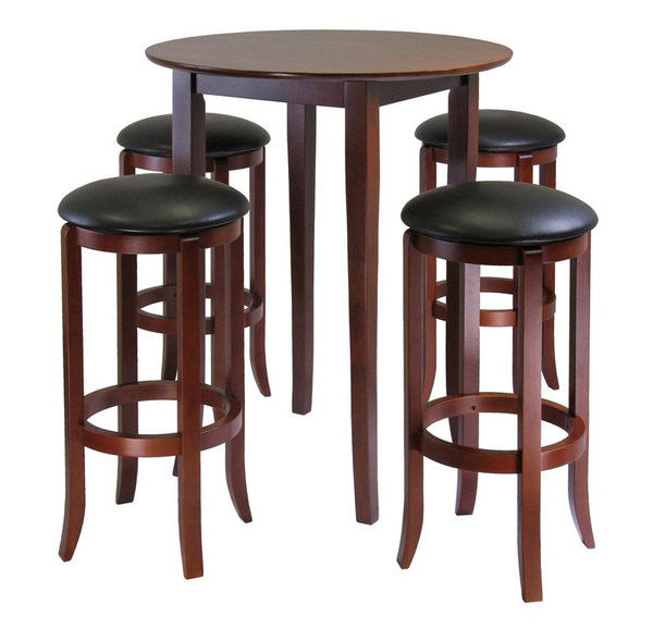 Small Round Pub Table Set   5 Piece   Christianu0027s Table