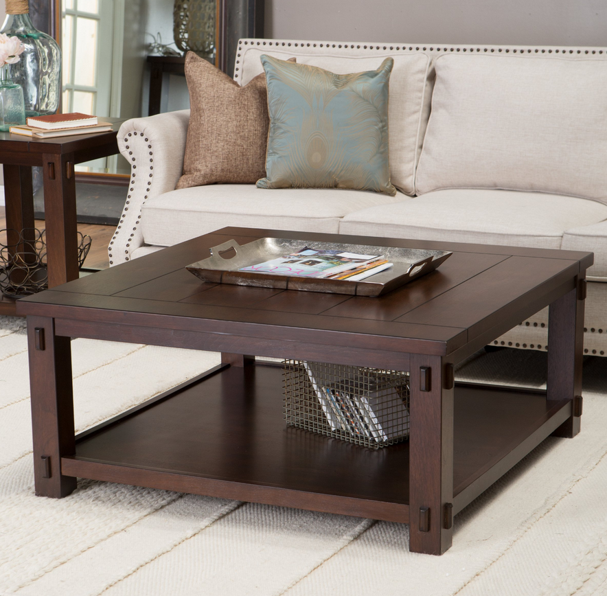 Rustic Square Coffee Table - Christian's Table