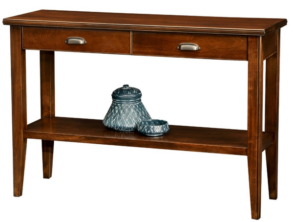 Two Drawer Storage Console Table