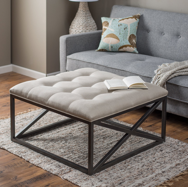 Tufted Coffee Table Ottoman - Christian's Table
