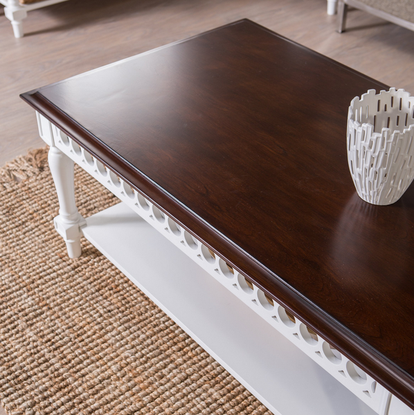 Two Tone White Walnut Coffee Table - Christian's Table