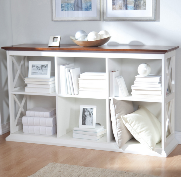 White Console Table Bookcase - Christian's Table