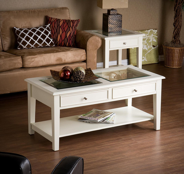 White Panorama Coffee Table - Christian's Table