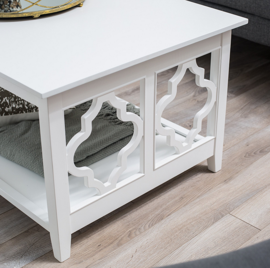 quatrefoil sided coffee table – christian's table