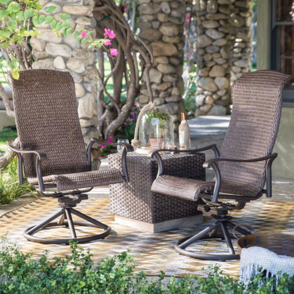 3 Piece Wicker Patio Set