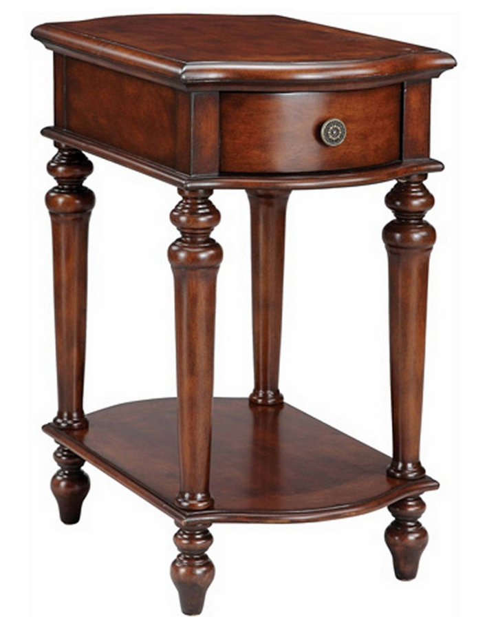Antiqued End Table Cherry - Christian's Table