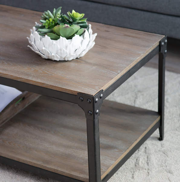 Industrial Coffee Table - Reclaimed Distressed Style - Christian's Table