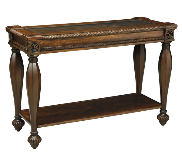 Entryway Console Table - Rustic Brown Finsih - Christian's Table