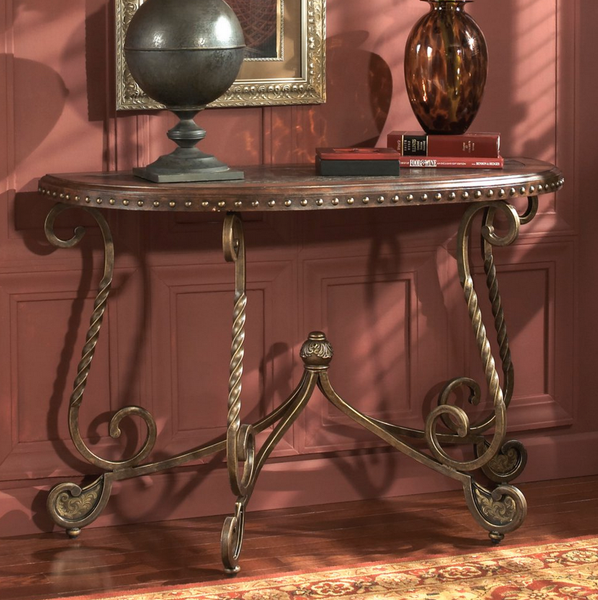 Crescent Brown Console Table