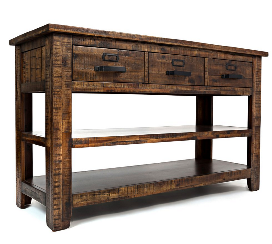 Acacia Wood Distressed Console Table - Christian's Table