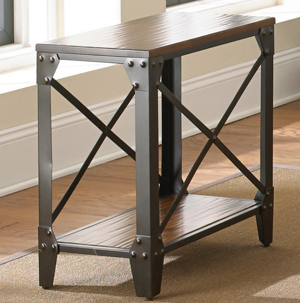 Chair End Table With Distressed Accents - Christian's Table