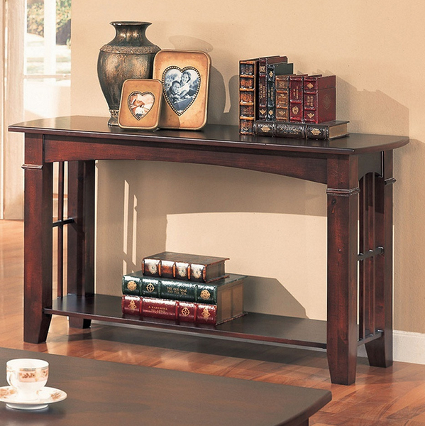 Cherry Finish Entryway Console Table
