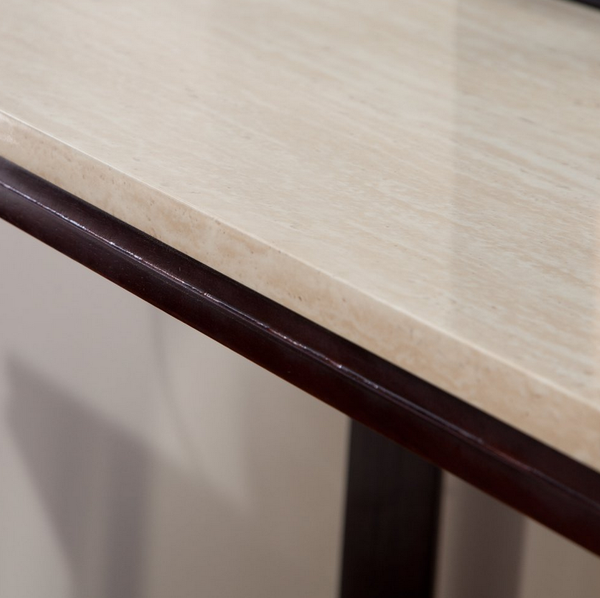 Faux Travertine Console Table - Christian's Table