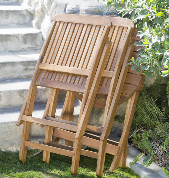 Folding Wooden Patio Table And Chairs