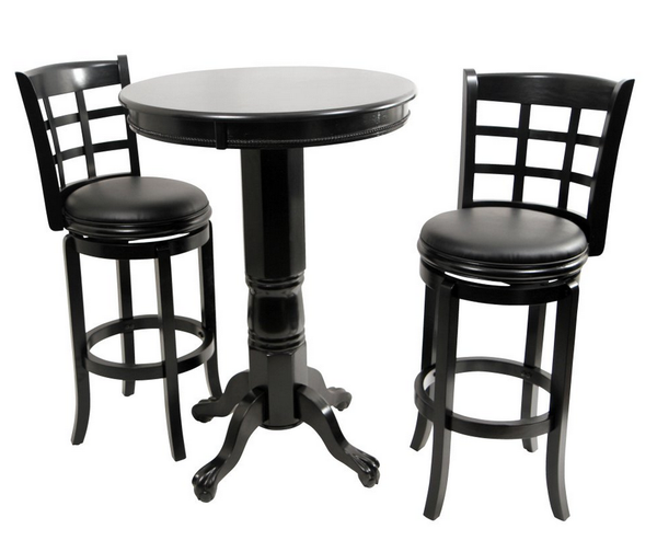 Game Room Bar Table Set - Black - Christian's Table