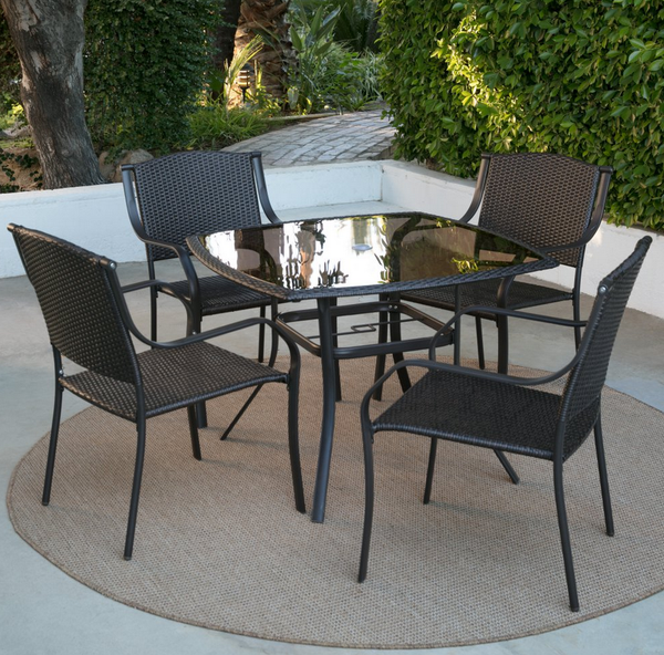 Glass Top Patio Dining Set