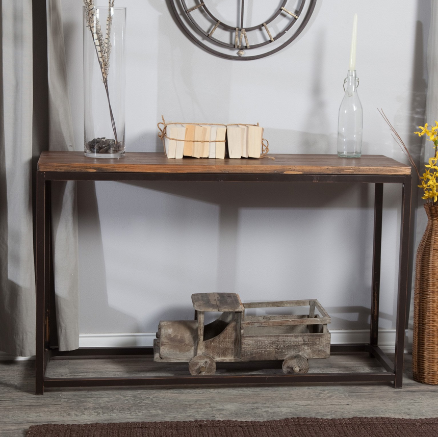 ... Rustic Industrial Console Table   Christianu0027s Table ...