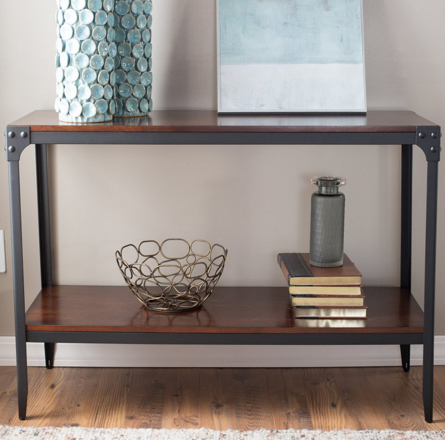 Industrial Console Table; Industrial Style Console Table ...