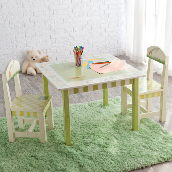 Alphabet Kids Play Table and Chair Set