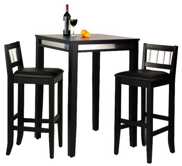 Modern Manhattan 3 Piece Pub Table Set - Christian's Table