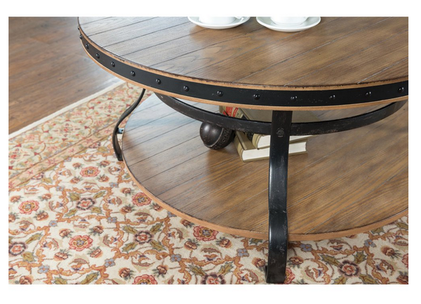 Round Rustic Coffee Table - Christian's Table