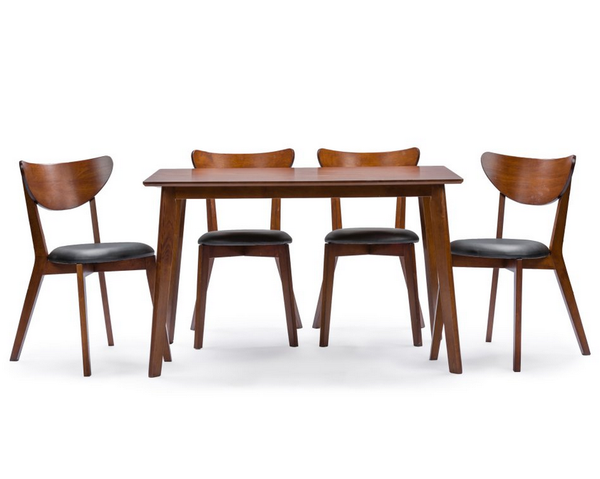 Mid-Century 5 Piece Rectangular Dining Table Set - Christian's Table