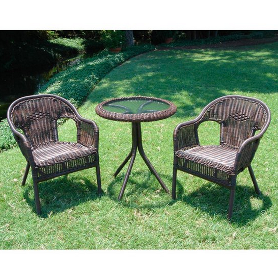 Outdoor Bistro Set - Wicker Resin - Christian's Table