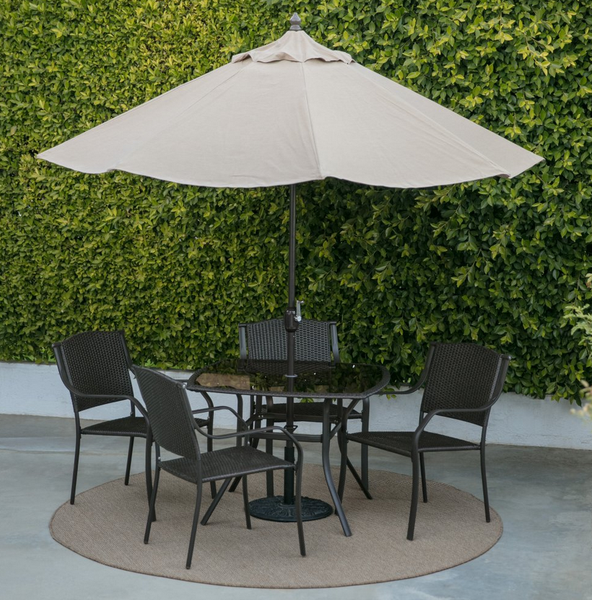 Outdoor Patio Set Umbrella Not Included