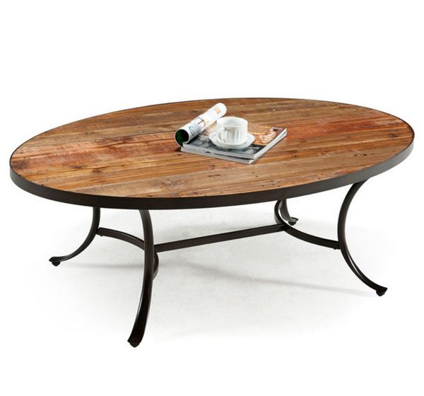 Oval Reclaimed Wood Coffee Table - Christian's Table