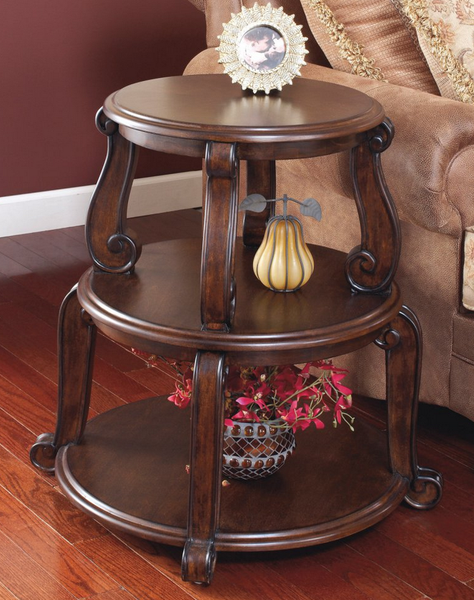 Traditional Round End Table - Christian's Table