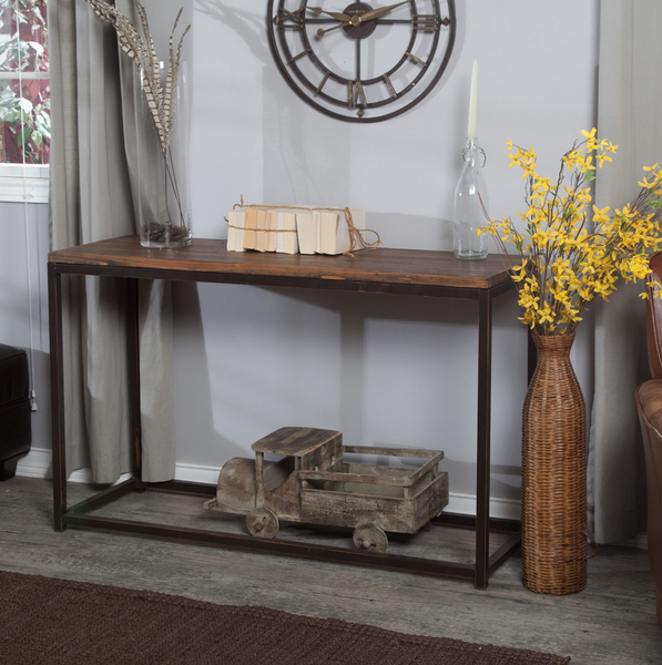 Rustic Industrial Console Table - Christian's Table