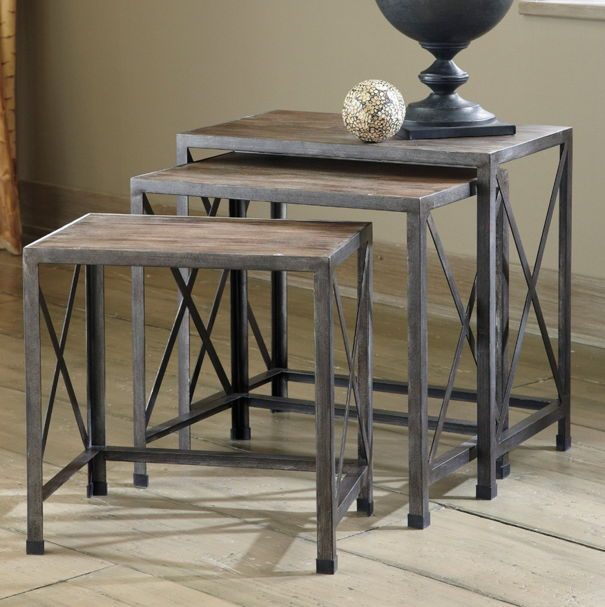 Nesting Rustic End Tables - Christian's Table