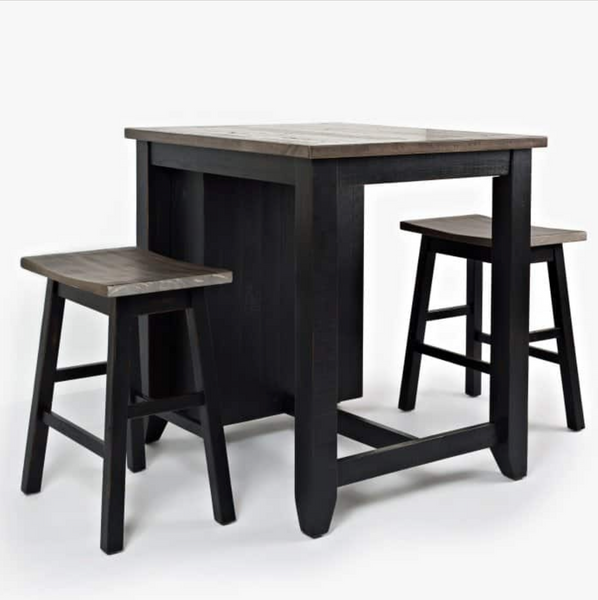 rustic black dining table