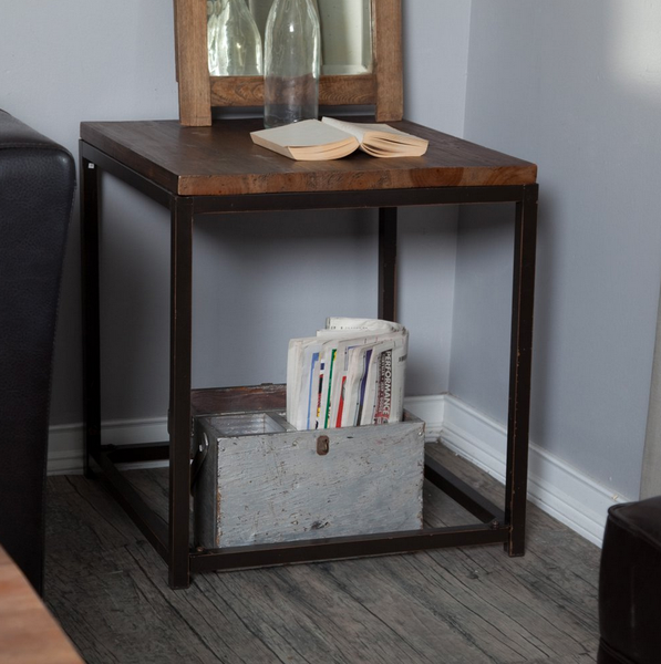 Rustic Industrial End Table - Christian's Table